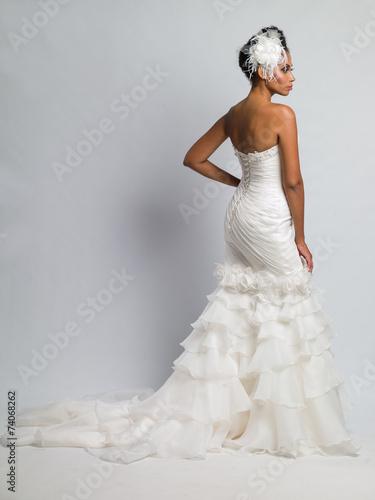 Leinwanddruck Bild African-American bride