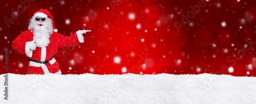 Leinwanddruck Bild Weihnachtsmann / Weihnachtlicher HG