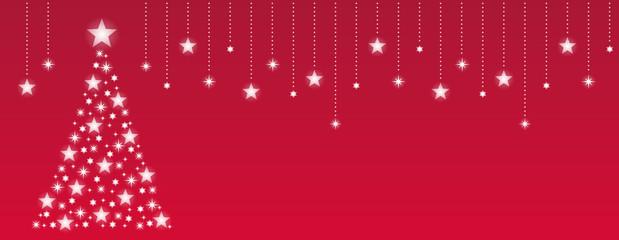 クリスマスツリーテンプレート 赤