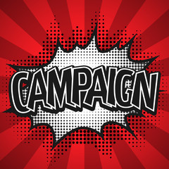 Comic Speech Bubble. Campaign Vector illustration