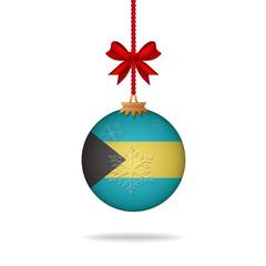 Christmas ball flag Bahamas
