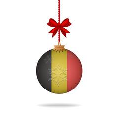 Christmas ball flag Belgium