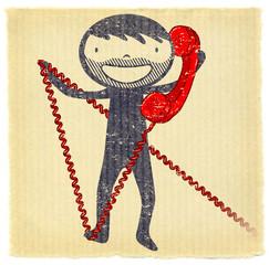 Fifties - Kraft téléphone rouge