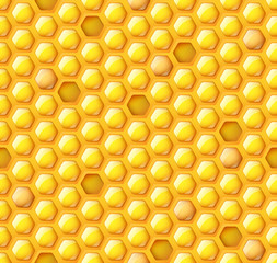 Honey hexagon seamless pattern