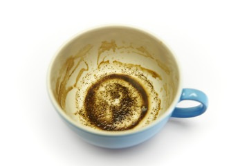 coffee cup with coffee grounds
