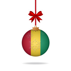 Christmas ball flag Guinea