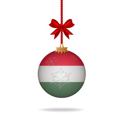 Christmas ball flag Hungary