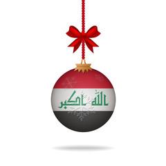 Christmas ball flag Iraq