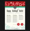 Christmas party festive restaurant menu design - 74070679