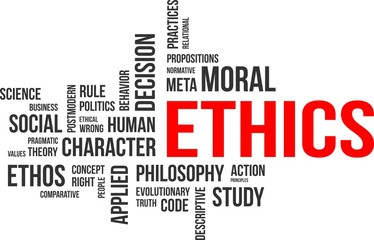 word cloud - ethics