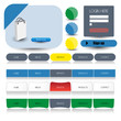 web user interface elements.Vector.Eps10.