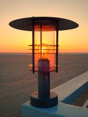Little beach lantern with bulb