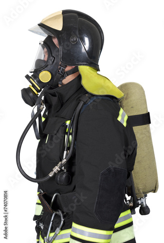 Firefighter in breathing apparatus - 74070814
