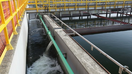 Sedimentation tanks in a sewage treatment plant
