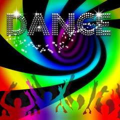Dance poster rainbow spinning vortex
