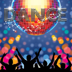 Dance poster disco ball