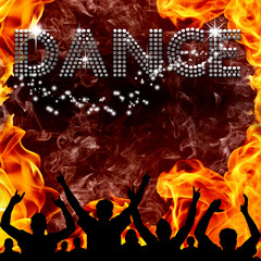 Dance poster hot devilish flames