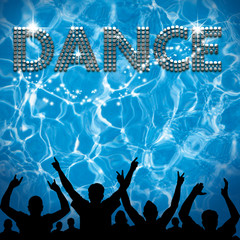 Dance poster pool party