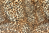 texture of close up print fabric striped leopard