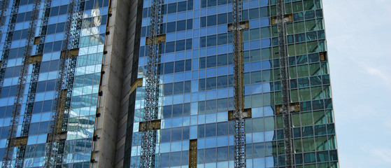 Immeuble en chantier, panorama