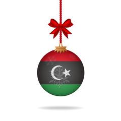 Christmas ball flag Libya