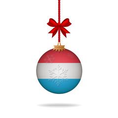 Christmas ball flag Luxembourg