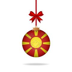 Christmas ball flag Macedonia