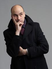 man wearing coat
