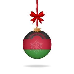 Christmas ball flag Malawi