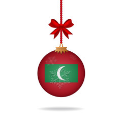 Christmas ball flag Maldives