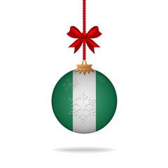 Christmas ball flag Nigeria