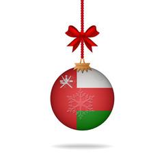 Christmas ball flag Oman