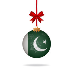 Christmas ball flag Pakistan