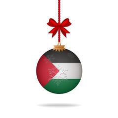 Christmas ball flag Palestine