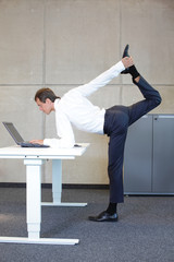 corporate warrior v3.0  as a healthy life icon at work