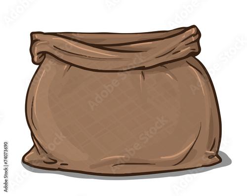 Canvas sack vector. canvas bag. - 74073690