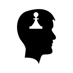 Man head with piece