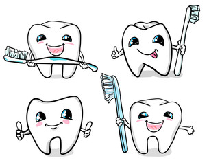 dental design vector. tooth vector. Dental icon set