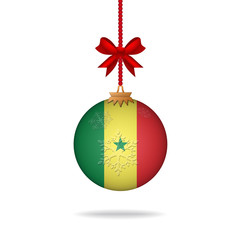 Christmas ball flag Senegal