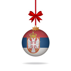 Christmas ball flag Serbia