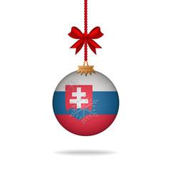 Christmas ball flag Slovakia
