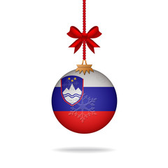 Christmas ball flag Slovenia