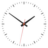 Simple classic clock on white