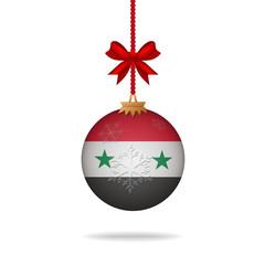 Christmas ball flag Syria