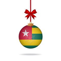 Christmas ball flag Togo