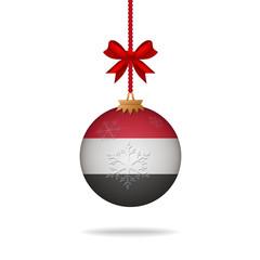 Christmas ball flag Yemen