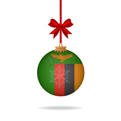 Christmas ball flag Zambia