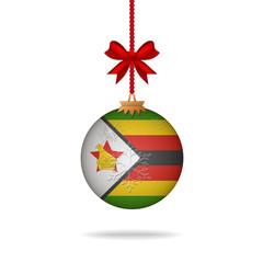 Christmas ball flag Zimbabwe