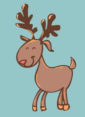 woodland animals. deer vector