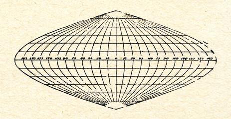 Sinusoidal map projection